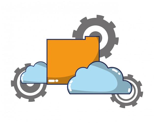 Desenho de suporte de computação de tecnologia