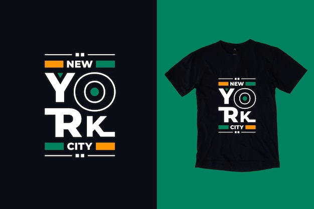 Desenho de t-shirt com letras tpografia moderna da cidade de nova york