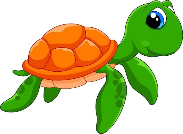 Desenho de tartaruga fofo