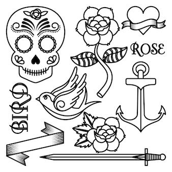 Desenho de tatuagem de rosas
