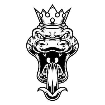 Desenho de tatuagem e camiseta em preto e branco ilustração de cobra
