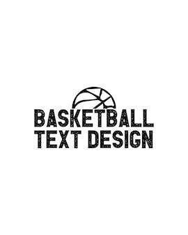 Desenho de texto de basquete em cartaz de tipografia desenhada à mão