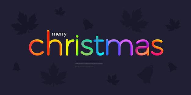 Desenho de texto de natal com linha colorida