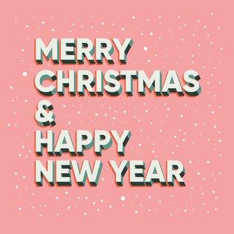 Desenho de texto feliz natal e feliz ano novo
