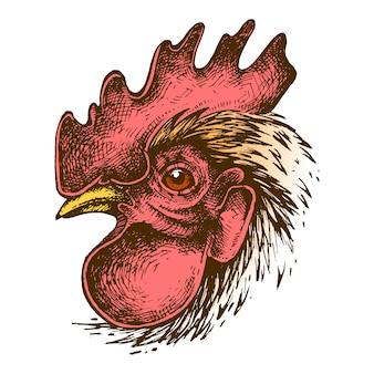 Desenho de tinta de galo