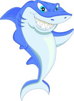Desenho de tubarão engraçado