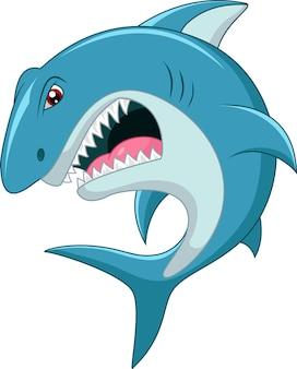 Desenho de tubarão irritado