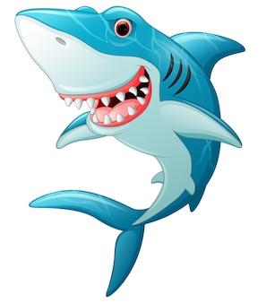 Desenho de tubarão sorridente