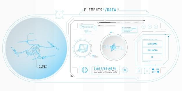 Desenho de uma interface de software para proteção, acesso e classificação de dados.