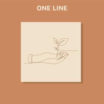 Desenho de uma linha contínua