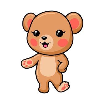 Desenho de urso pardo de bebê fofo apresentando