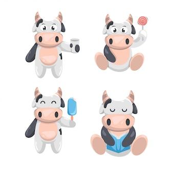 Desenho de vaca feliz bonito