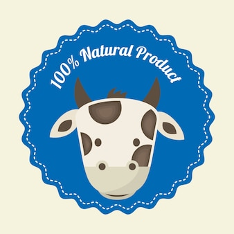 Desenho de vaca sobre fundo branco