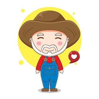 Desenho de velho fazendeiro