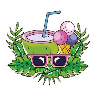 Desenho de verão tropical