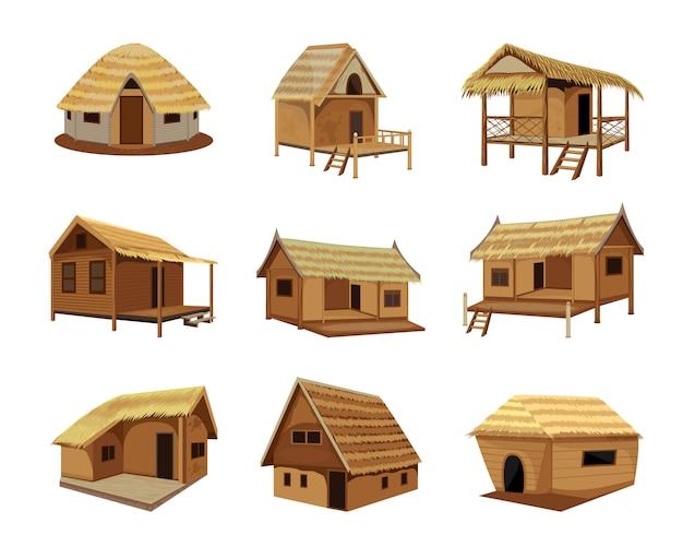 Desenho de vetor de cabana de palha