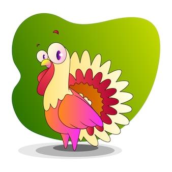 Desenho de vetor de desenhos animados da turquia