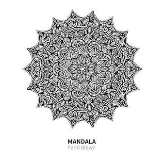 Desenho de vetor de flor de mandala