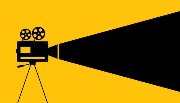 Desenho de vetor de fundo de cartaz de filme de cinema
