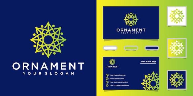 Desenho de vetor de ícone de logotipo de ornamento