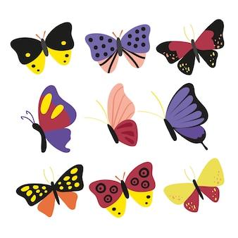 Desenho de vetor de personagem de borboleta