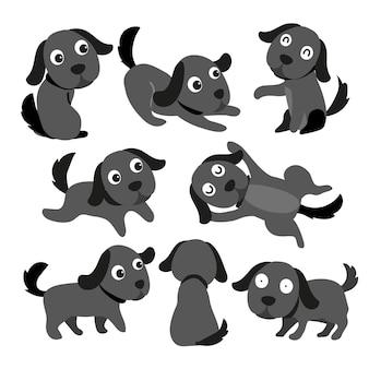 Desenho de vetor de personagem de cachorro