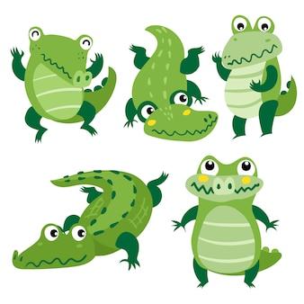 Desenho de vetor de personagem de crocodilo