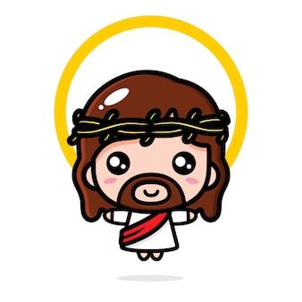 Desenho de vetor fofo jesus cristo