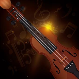Desenho de violino.