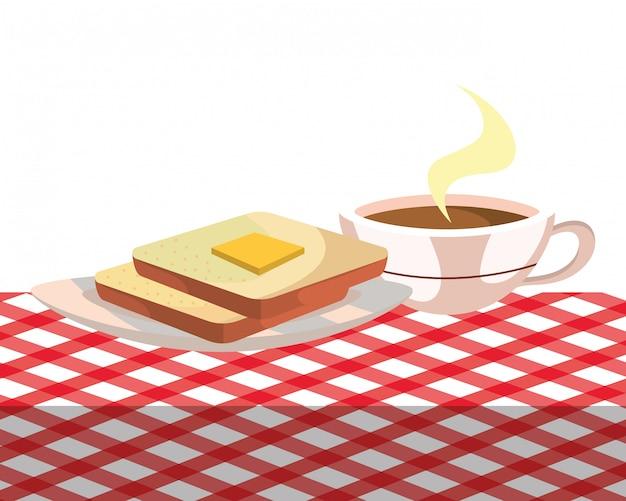 Desenho delicioso saboroso café da manhã