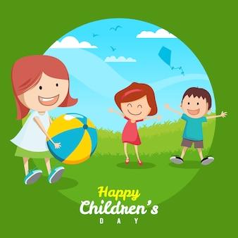 Desenho desenhado à mão ilustração do dia das crianças