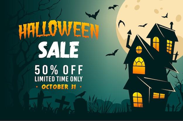Desenho desenhado à mão venda de halloween