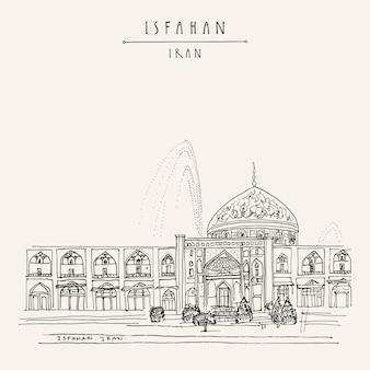 Desenho desenhado de irã