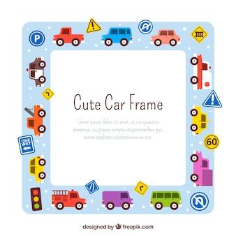 Desenho desenhado do quadro do carro