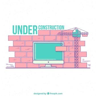 Desenho desenhado em construção