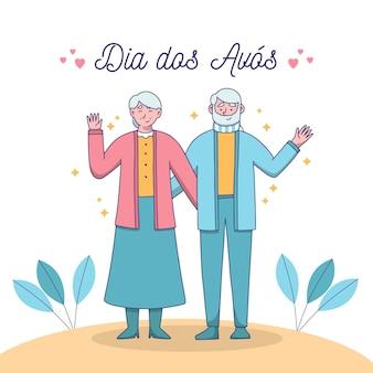 Desenho dia dos avós