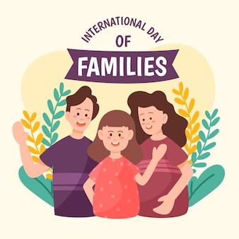 Desenho dia internacional do tema das famílias