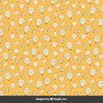 Desenho diamante fundo amarelo