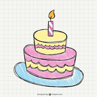 Desenho do bolo de aniversário