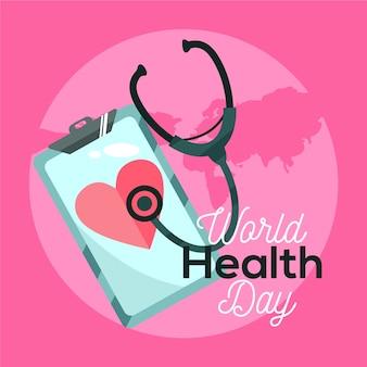 Desenho do conceito de dia mundial da saúde