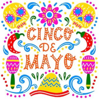 Desenho do design do cinco de mayo