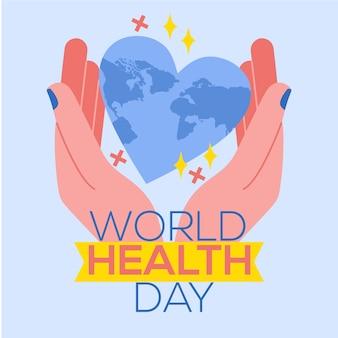 Desenho do design do dia mundial da saúde