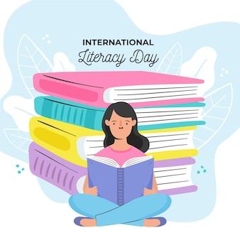 Desenho do dia internacional da alfabetização