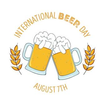 Desenho do dia internacional da cerveja