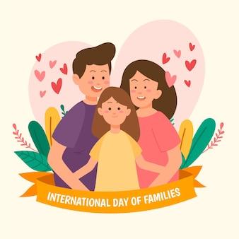 Desenho do dia internacional do design das famílias