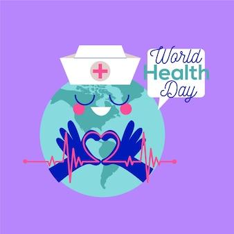 Desenho do dia mundial da saúde