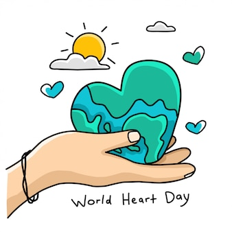 Desenho do dia mundial do coração