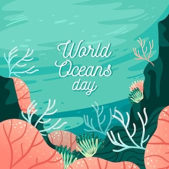 Desenho do dia mundial dos oceanos