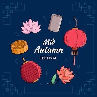 Desenho do festival do meio do outono