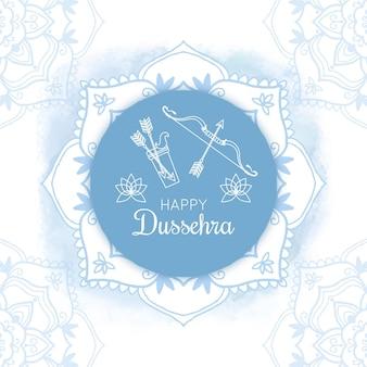 Desenho do festival dussehra desenhado à mão